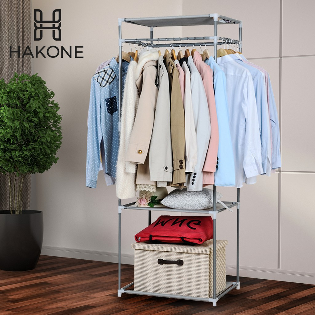 HAKONE Rectangular Clothes with Rack 3 Tiers Size