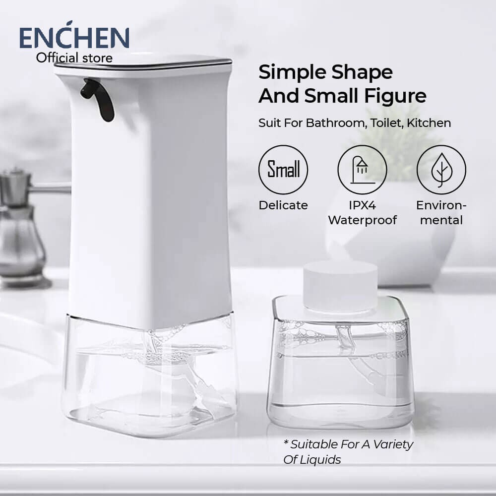 Enchen Pop Clean Automatic Induction Soap Dispenser with Sensitive Infrared Sensor