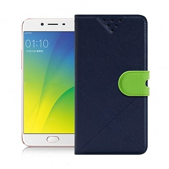 NISDA for OPPO R9s 風格磨砂側翻皮套 藍