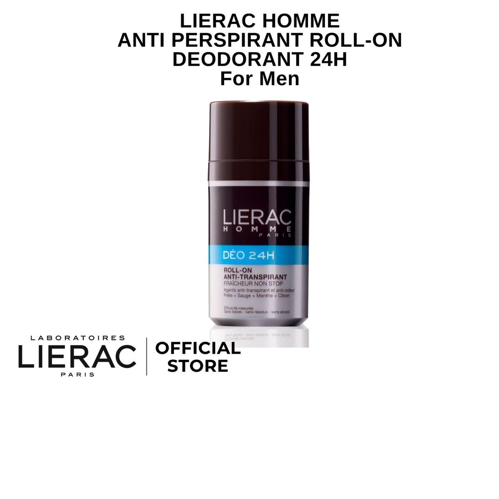 Lierac Homme Anti-Perspirant Roll-On Deodorant 24 Hour For Men 50ml