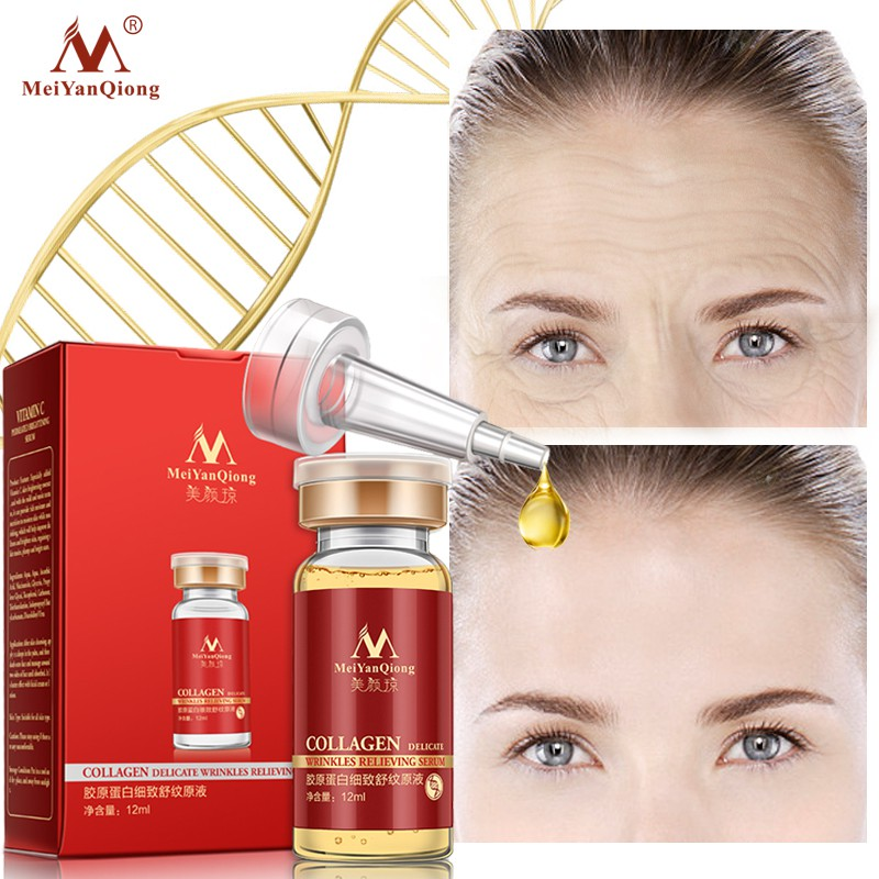 MeiYanQiong Collagen Delicate Wrinkles Relieving Serum 1Piecec Anti-wrinkle Anti-aging12ml