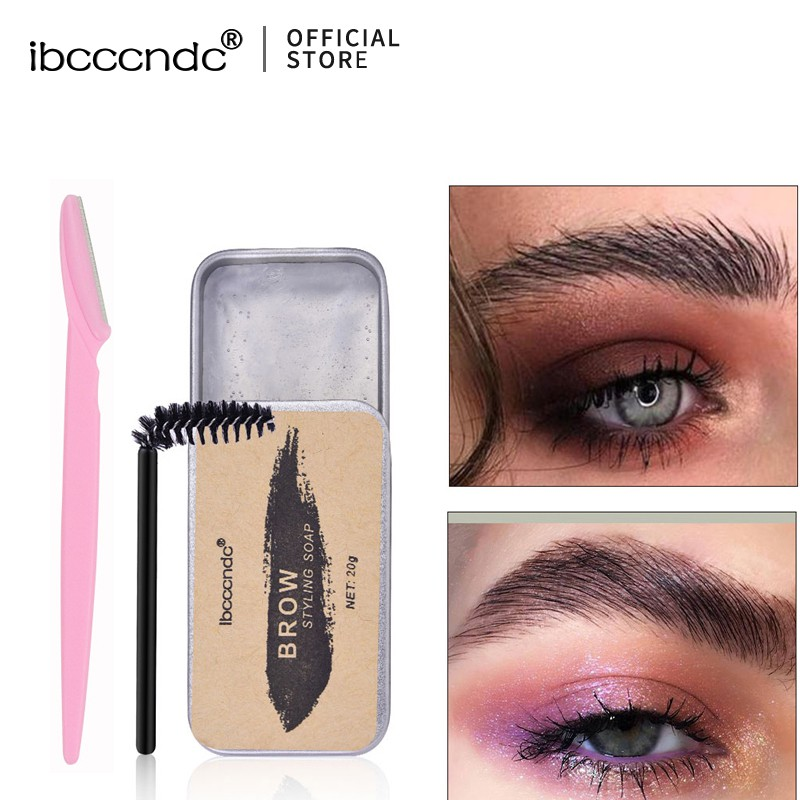 ibcccndc Eyebrow Soap Brow Sculpt Lift Brow Styling Soap Waterproof Long Lasting Eyebrow Gel Pomade Eyebrow Soap have Eyebrow Trimmer