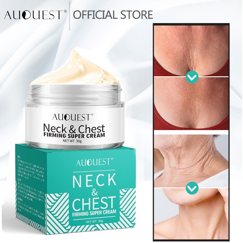 AuQuest Neck Chest Wrinkle Firming Cream Anti Wrinkle Anti Aging Cream Moisturizer Cream Skincare Beauty cream 30g
