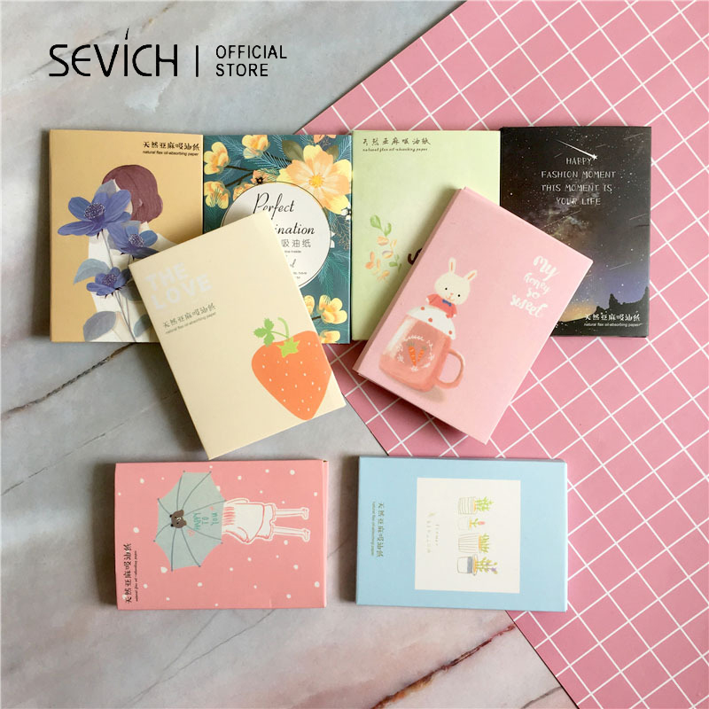 SEVICH Absorbent Paper Portable Facial Shrink Pores Natural Oil Control Cleansing 50 Sheets