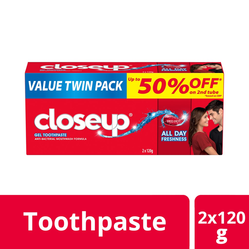 Close Up Anti-Bacterial Toothpaste Red Hot 120G