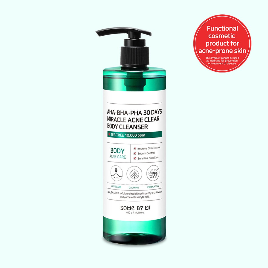 [SOME BY MI] AHA-BHA-PHA 30 Days Miracle Acne Clear Body Cleanser, 400g Cruelty-Free