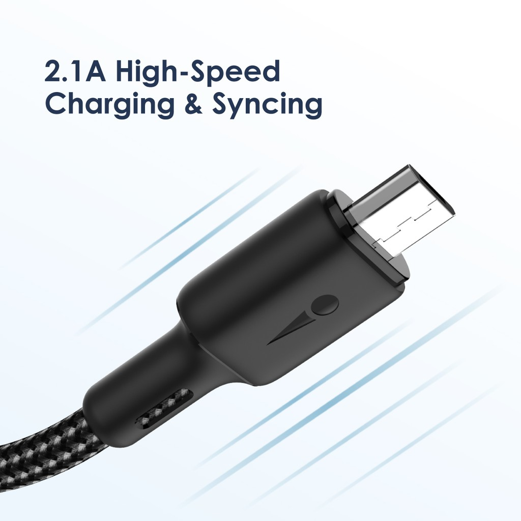 Oraimo 3pcs Kabel Data Android BRAID Micro USB Fast Charging Data Cable Charger 1.5 meter OCD-M29N