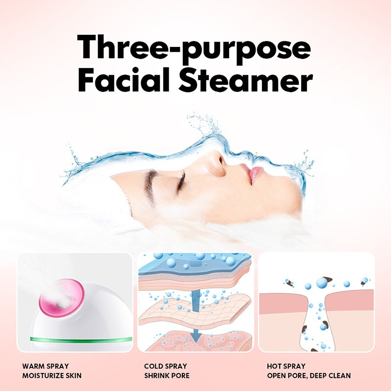 K-SKIN Hot and Cold Spray Facial Steamer , Humidifier, Moisturizing Clean Pores 金稻冷热喷蒸脸器