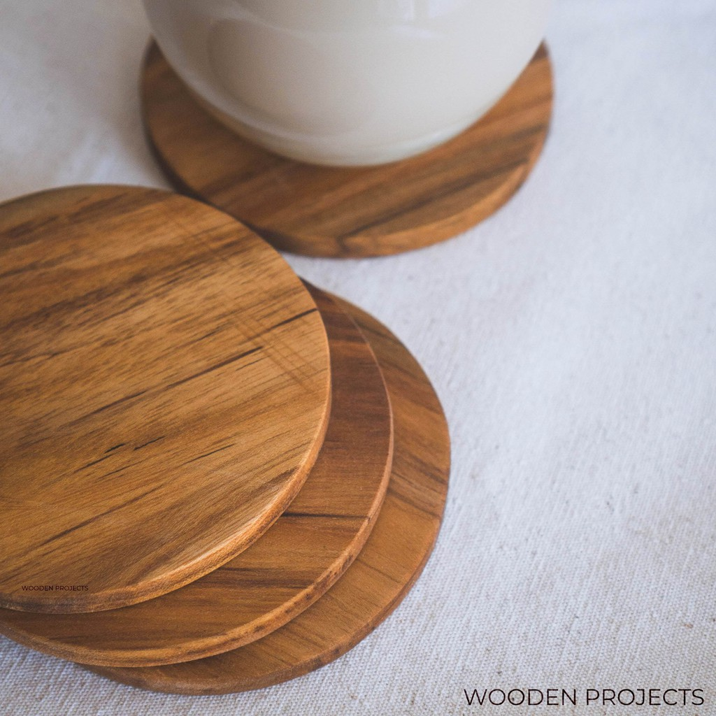 Wooden Projects Wood Coasters Round Teak Wood Coasters - Tg1