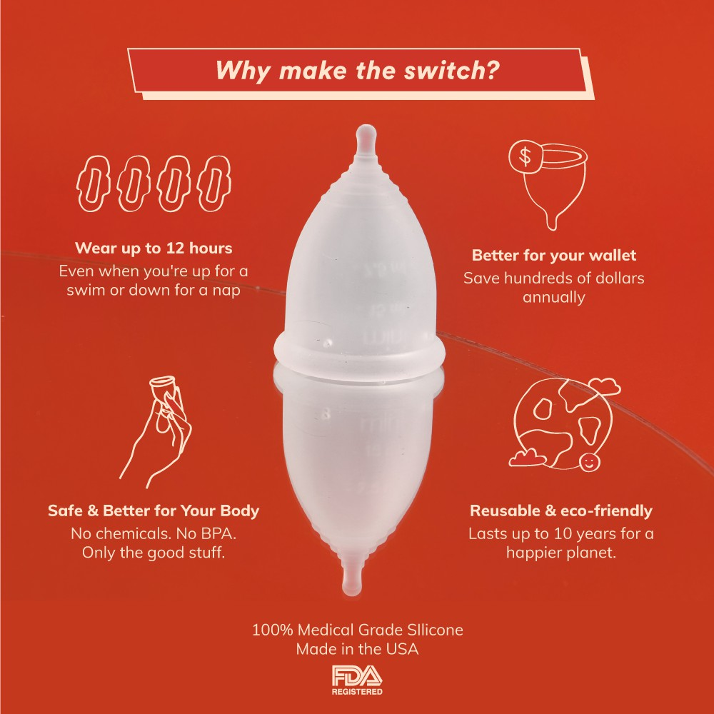 Blood Menstrual Cup - Suitable for Beginners - 120 Days Return Guarantee