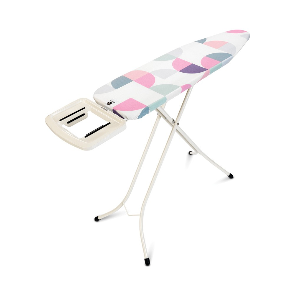 Brabantia Size A Ironing Board 110X30cm With Steam Iron Rest Ivory- Abstract Leave