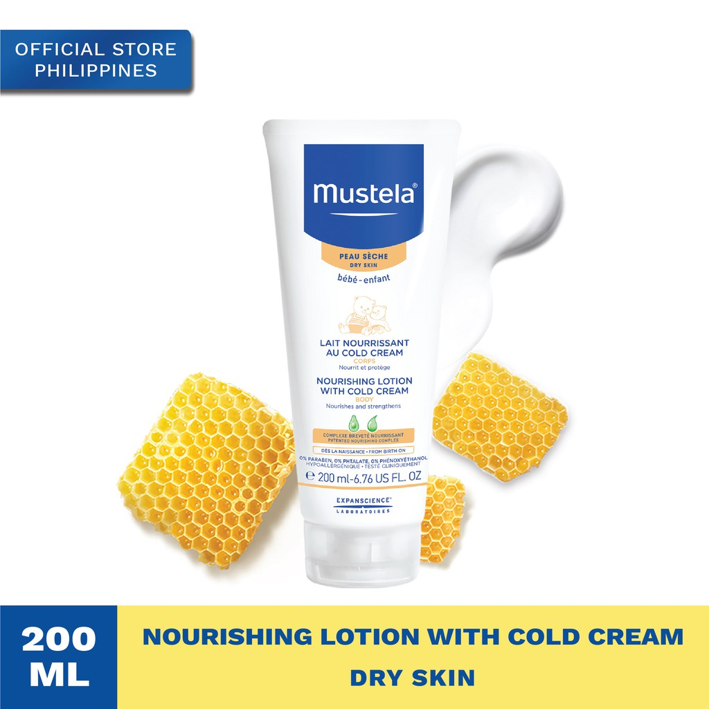 Mustela Nourishing Lotion with Cold Cream 200ml, Dry Skin