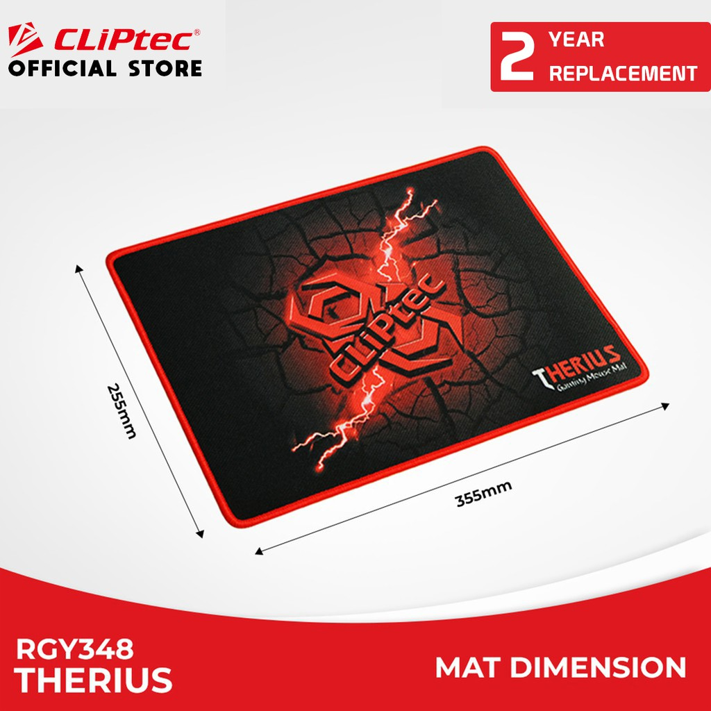 CLIPtec - RGY348 / Therius / Gaming Mouse Pad Murah / Pro Rubber