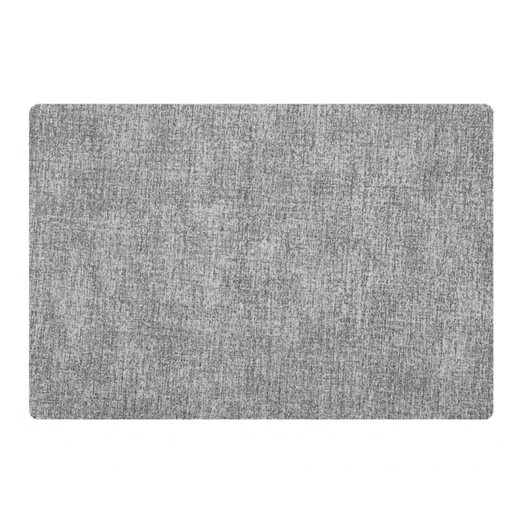 Light Grey High Quality Waterproof Wear-Resistant PU Leather Picola Placemat