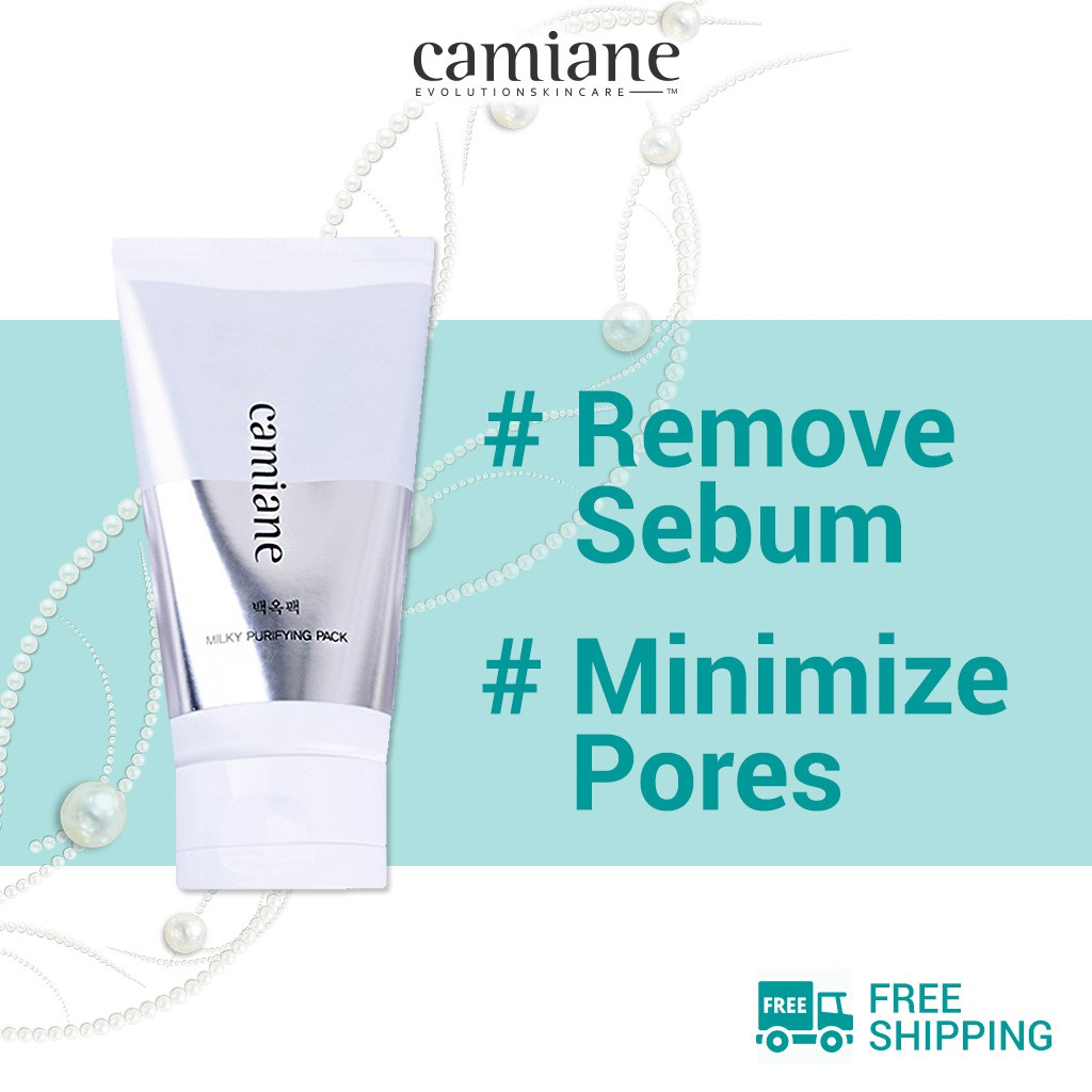 [Camiane] Milky Purifying Peel Off Pack 120ml | Milky Purifying Toner Alcohol Free 200ml