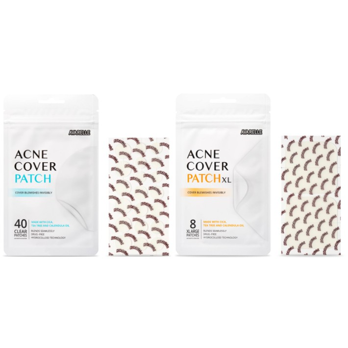 AVARELLE  Acne Care Package 01. Pimple Patch Absorbing Cover Blemish Round 40ct And XL Square 8ct