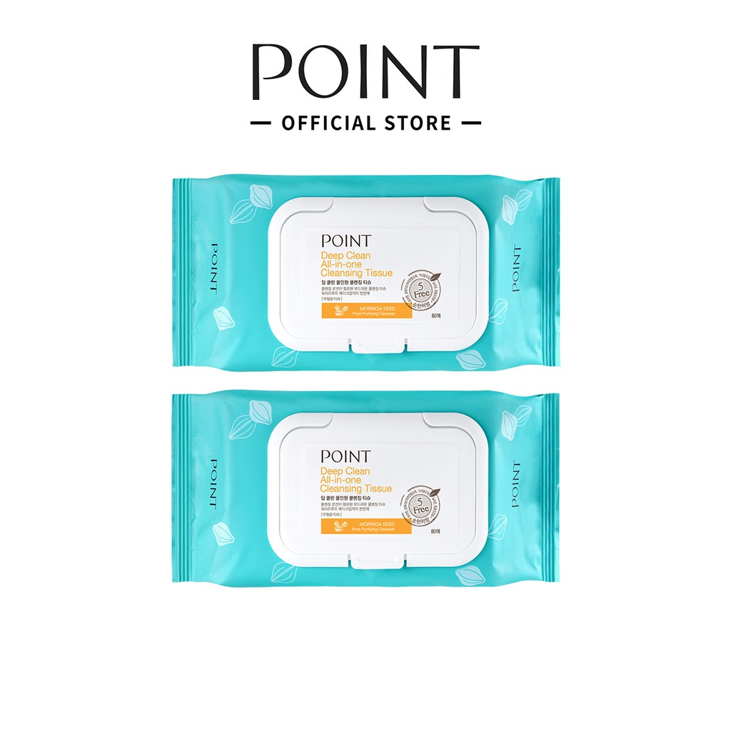 POINT Deep Clean Cleansing Tissue 80 Sheets x 2ea