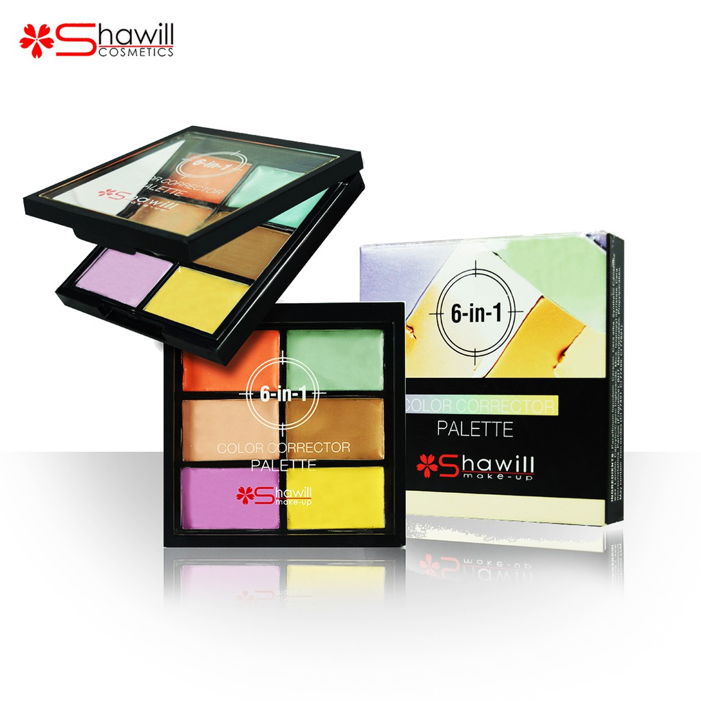 Shawill Make-up 6 in 1 Color Corrector Palette 10.8g