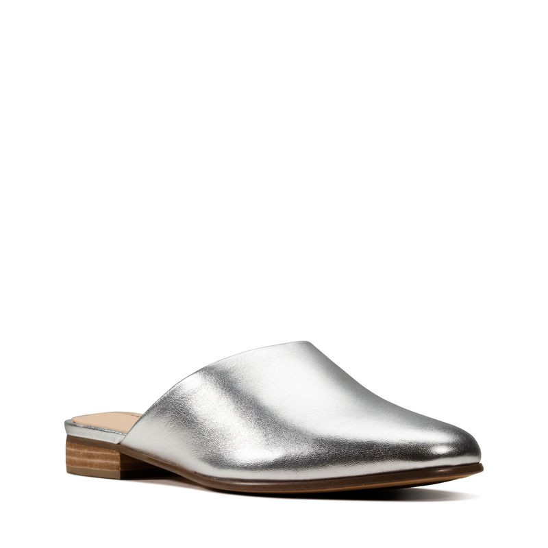Clarks Pure Blush Silver Leather Womens Dress Retail Sort 2