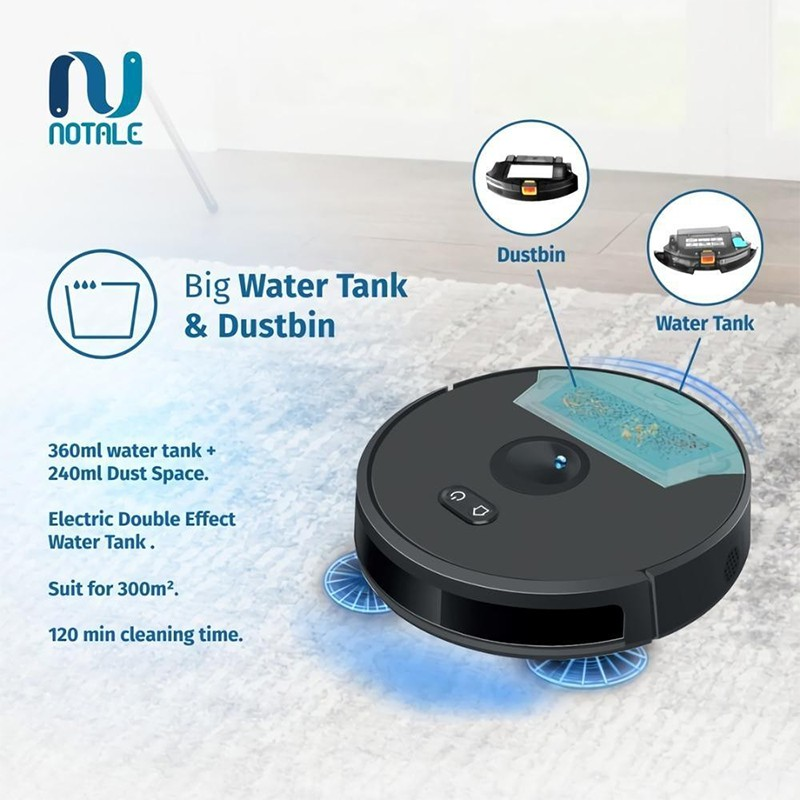 NOTALE NTL-RV855 Robot Vacuum Cleaner UV Sterilization with Sweep Mop