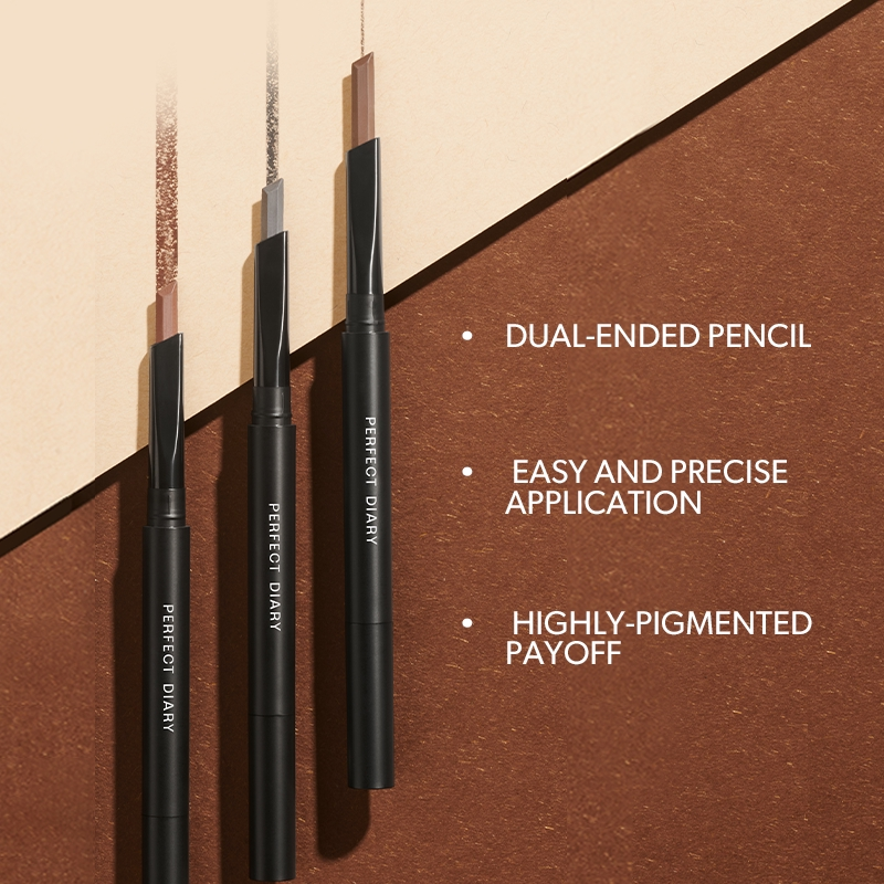 Perfect Diary Eyebrow Pencil Dual-ended Hexagonal Chiseled 5 Shades
