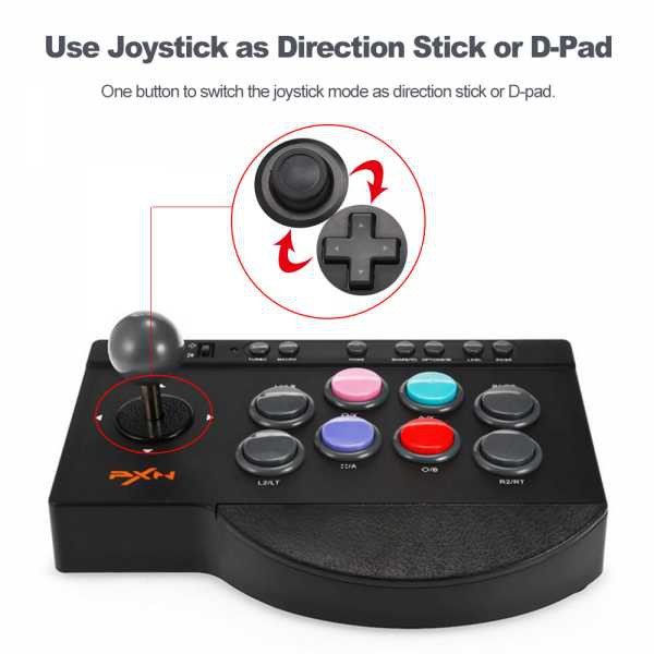 PXN - 0082 Arcade Game Joystick Controller For PC, PS3, PS4, Xbox One And Android TV