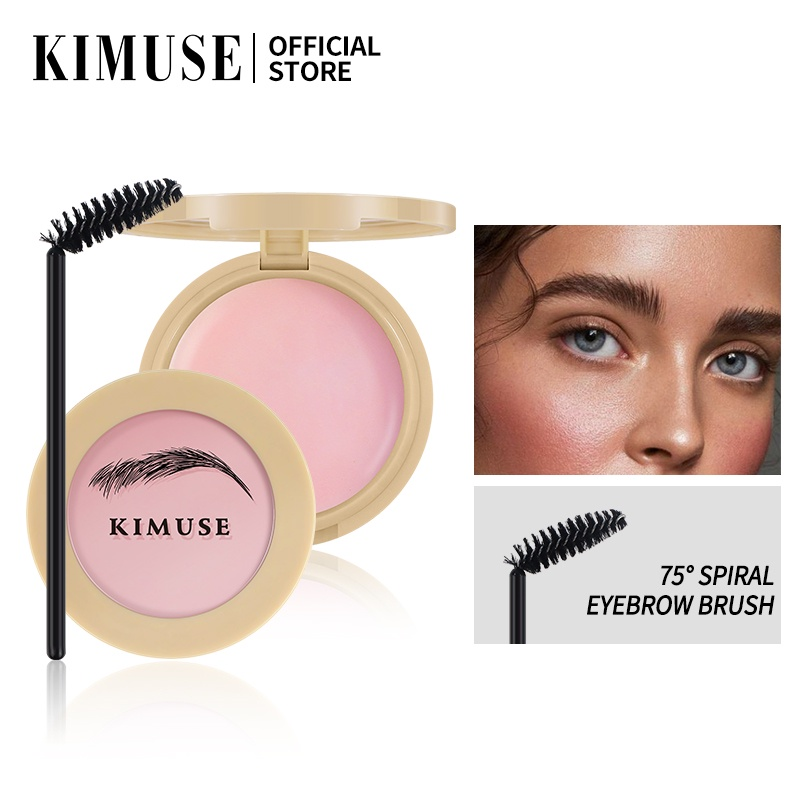 KIMUSE Eyebrow Soap Brow Sculpt Lift Brow Styling Soap Waterproof Long Lasting Eyebrow Gel Pomade Eyebrow Soap Wax With Trimmer