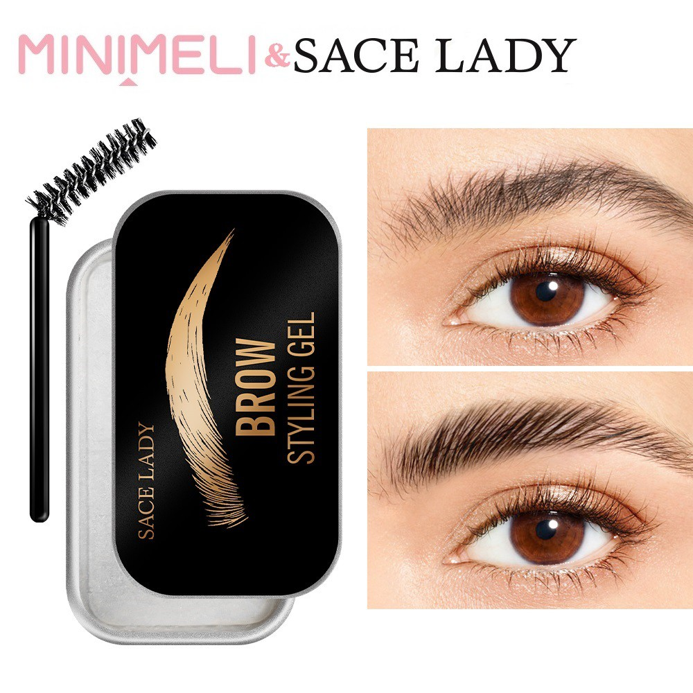 MINIMELI & SACE LADY Eyebrow Soap Eyebrows Pomade Gel With Trimmer Fluffy Feathery  Eyebrow Lamination Soap Brow Sculpt Lift Makeup