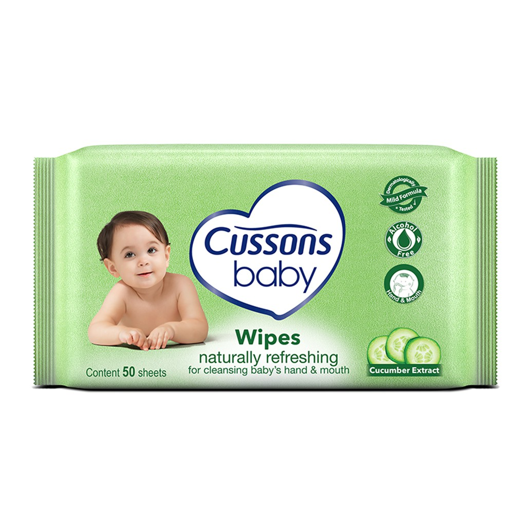 Cussons Baby Wipes Natural Refreshing 50 Sheet X 4