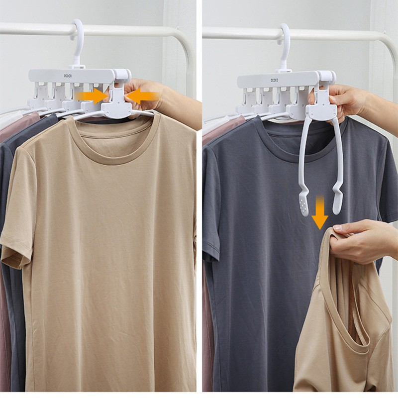 Oenen Clothes Rack Home Storage Rack Multifunctional Storage Clothes Hanger Trousers Rack Tie Rack Foldable