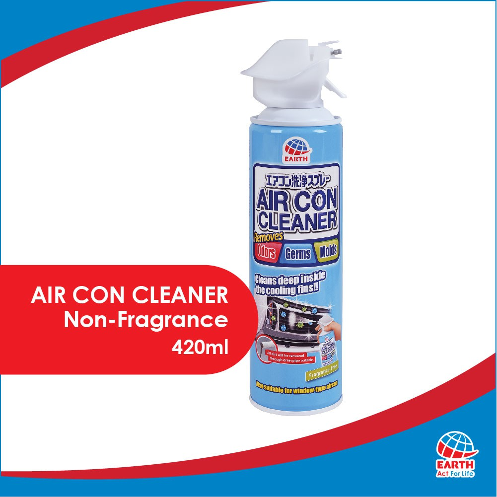 Anti-Virus Set: Earth Anti-Bacterial & Fragrance-Free Air Con Cleaner Spray & Natucair Relaxing Purple Fabric Spray