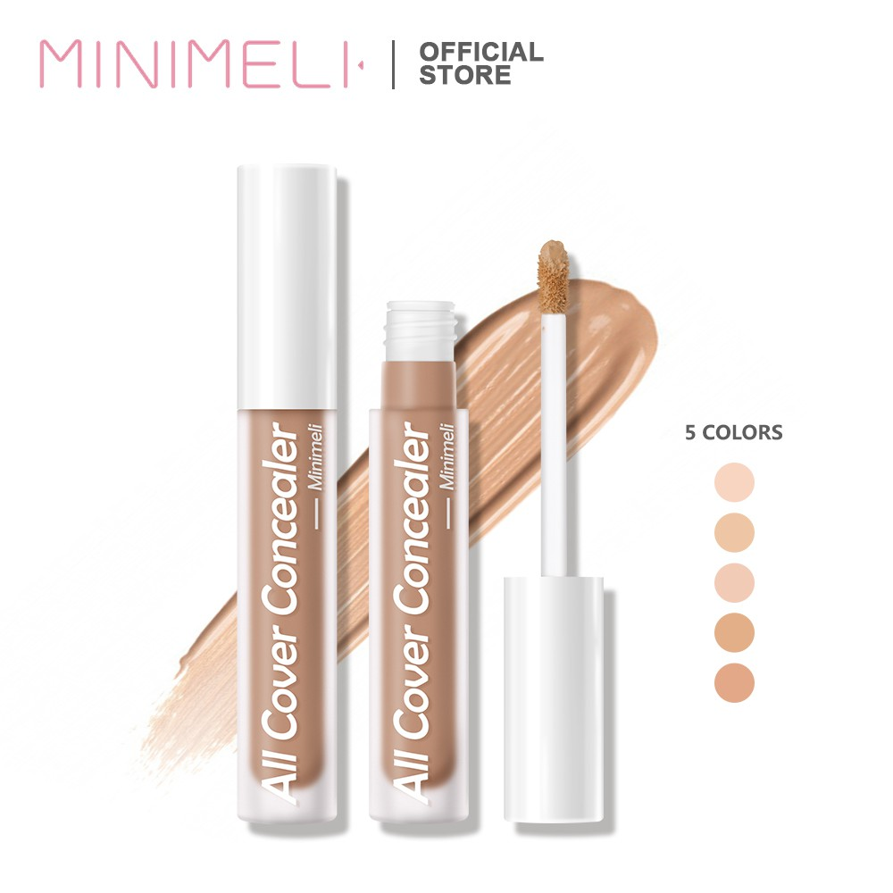MINIMELI Flawless Natural Concealer Full Coverage Matte Conceal Dark Circles Scar Acne Skin Corrector Face Cosmetic