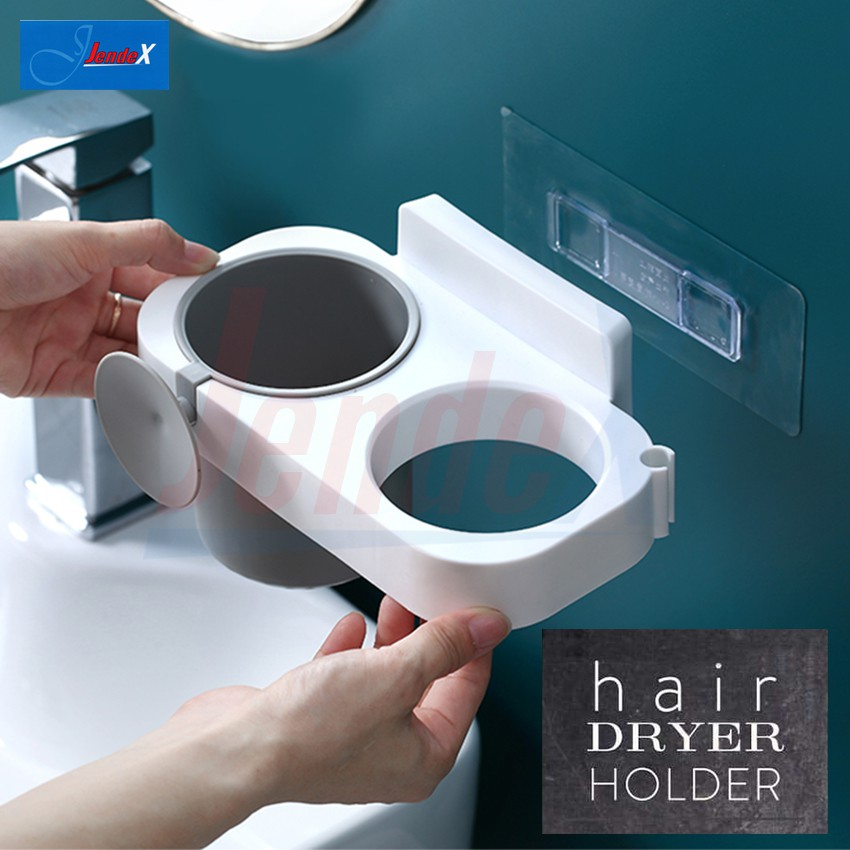 Hair Dryer Rack Self-Adhesive Wall-Mounted Hair Dryer Holder Note: No Specific Color