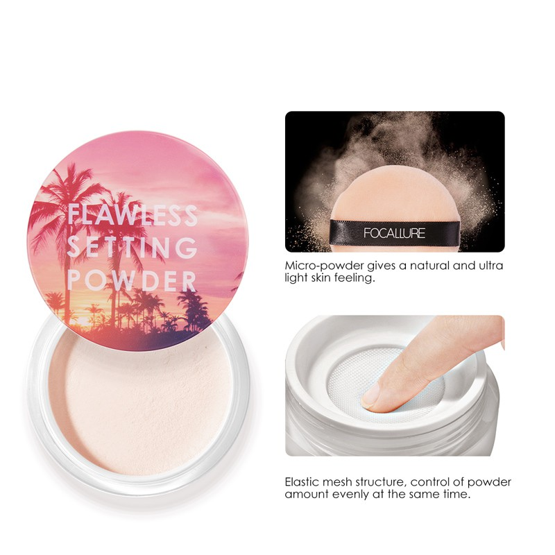Focallure Face Flawless Smooth Setting Powder Long Lasting Cosmetic