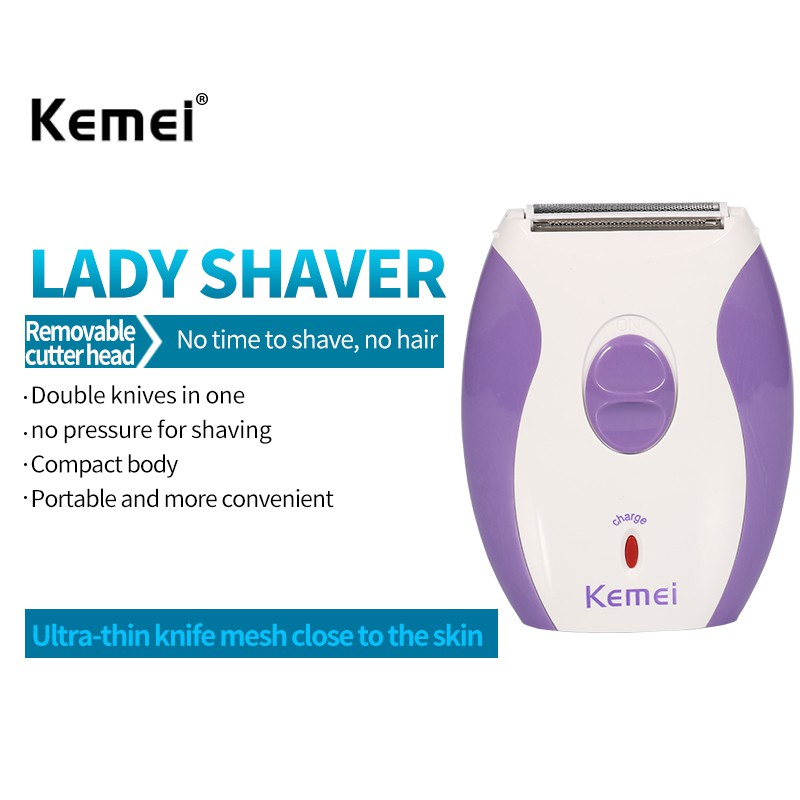 Kemei Rechargeable Women Epilator Electric Shaver Razor Wool Depilador For Face Body Hair Removal Lady Shaver KM-280R