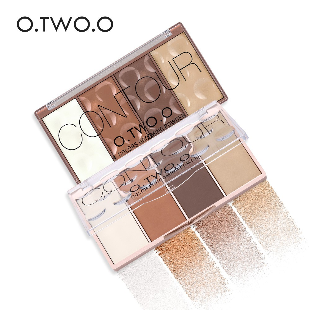 O.TWO.O 4 Colors Grooming Powder Contour Bronzer Blusher Highlighter Shading