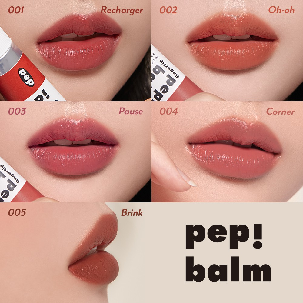 [I`M MEME Official] I`M Pep!Balm | Multi-use Lip and Cheek Tint with Shea Butter | Liquid Blush and Lip Stain Balm in One