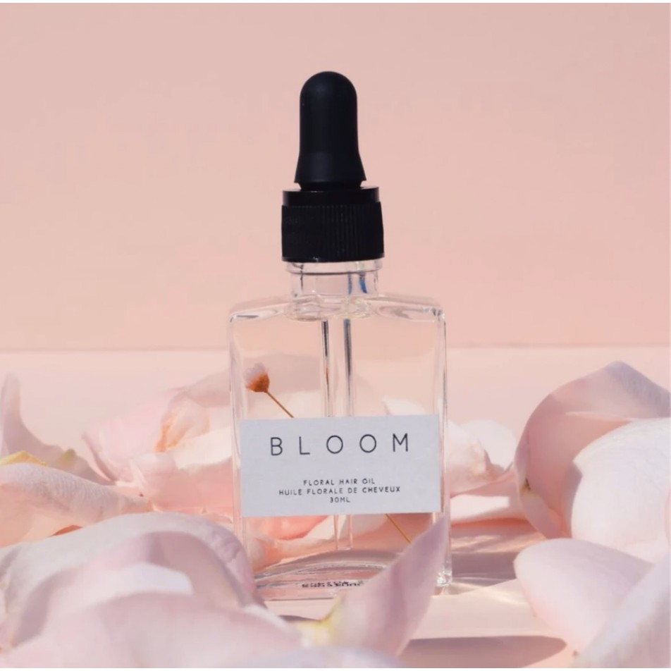 BLOOM by Bloom Hair Co - Hair Linseed Oil Serum Essence Tonic in Glass Bottle with Dropper