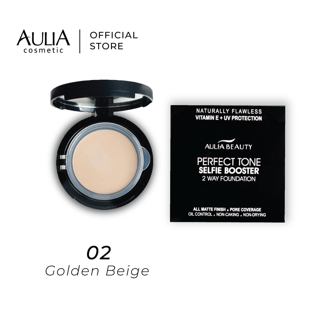 Aulia Two Way Foundation Matte Finish, Oil Control,Non Drying with UV Protection
