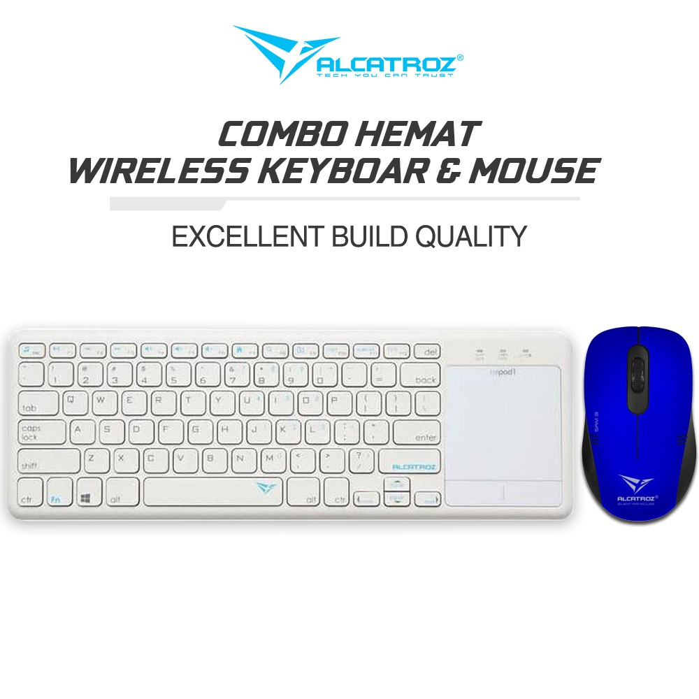Alcatroz Smart TV Wireless Keyboard 2.4G AirPad1 Bundle Silent Switches Mouse Wireless Stealth Air 3