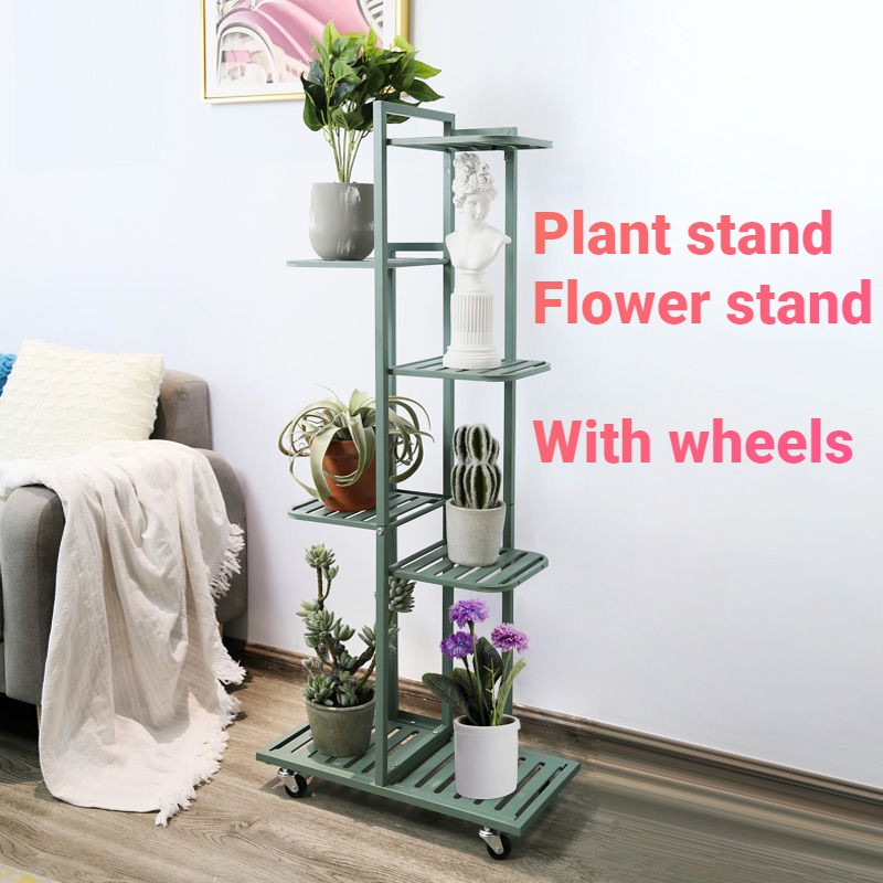 JINSHENG Plant Rack With pulley Plant Stand Indoor Multi-layer Wrought Flower Stand Plant rack stand Pots Gardening Tools Potted Placement shelf