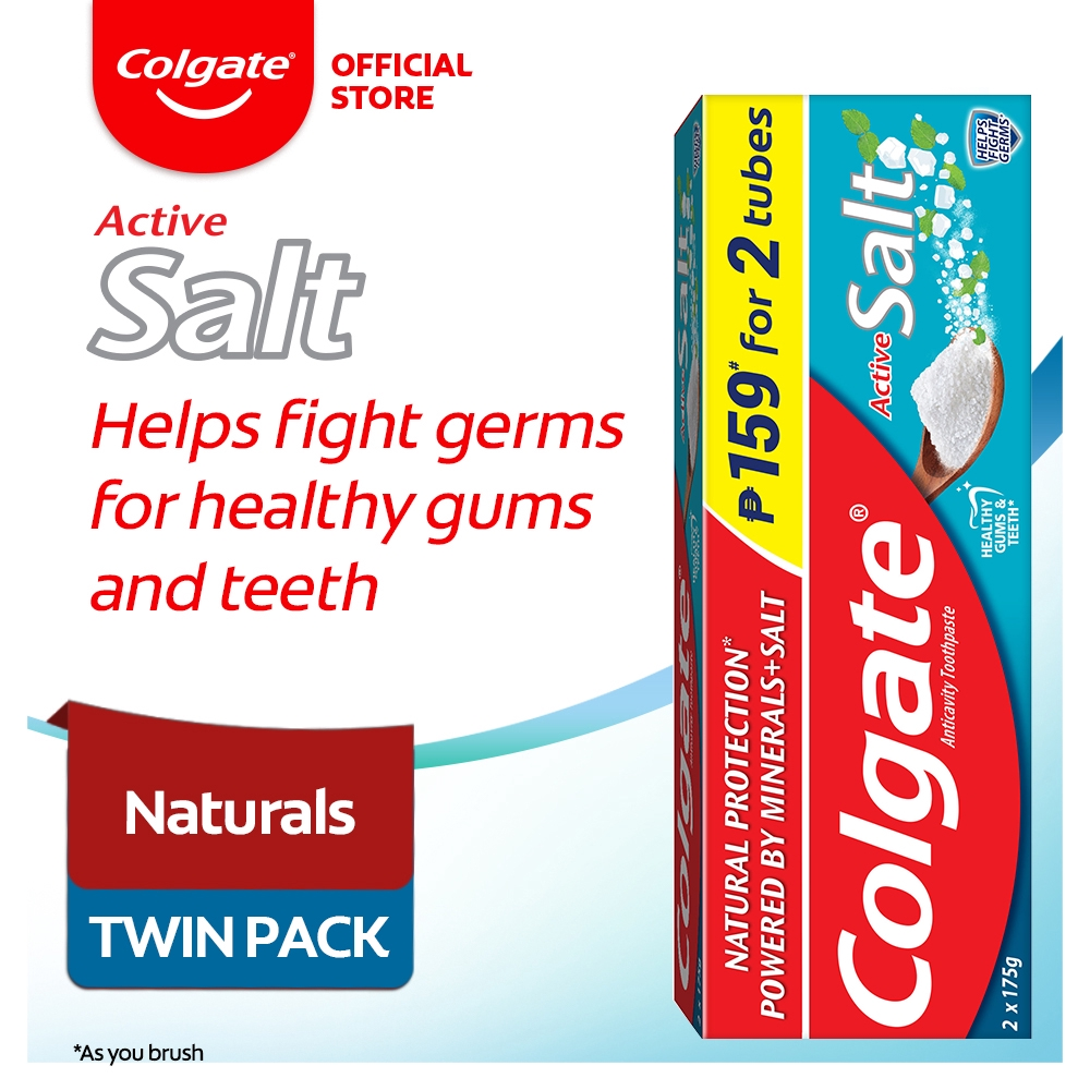 Colgate Active Salt Toothpaste 175g Twin Pack