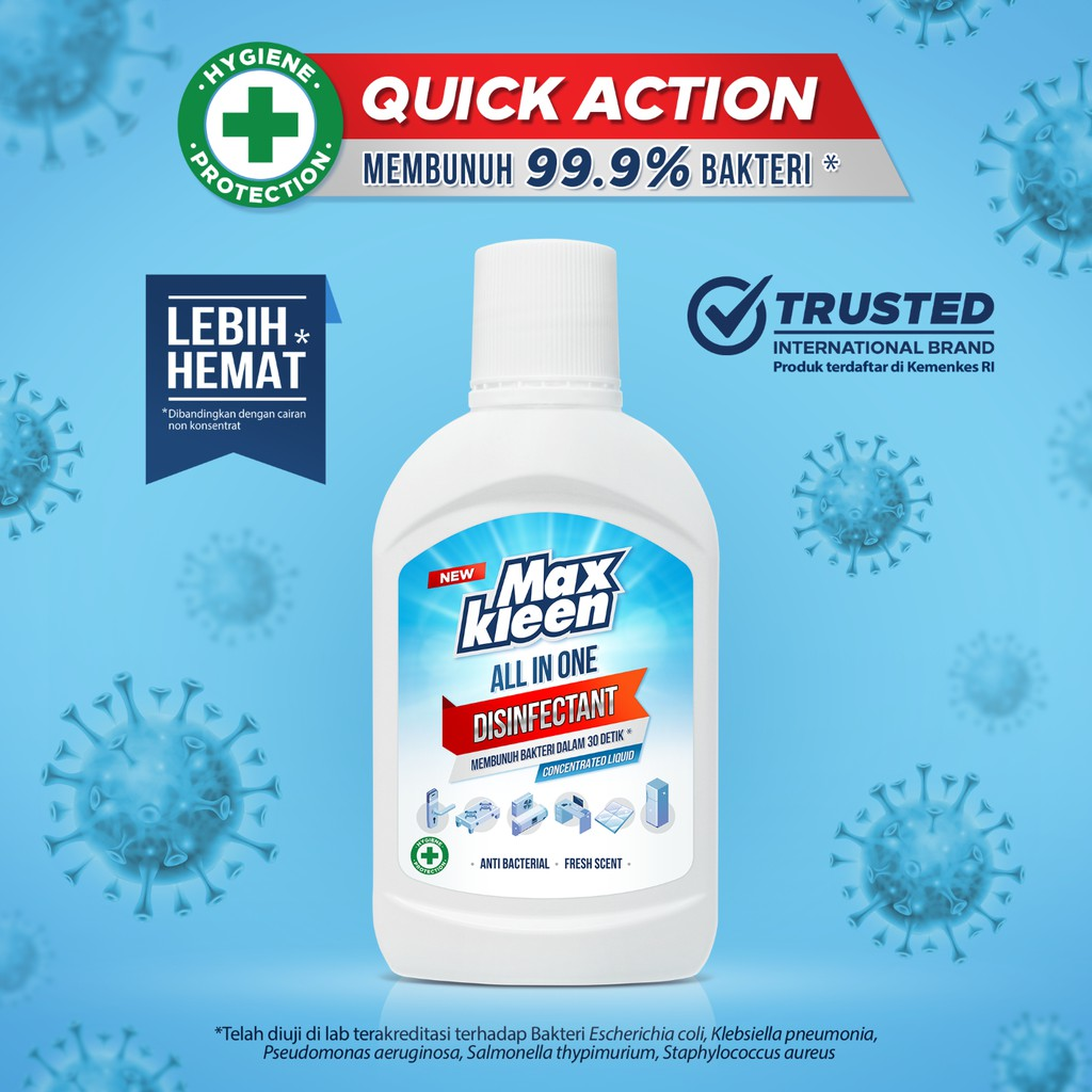 Maxkleen All in One Disinfectant Concentrated Liquid 250 ml
