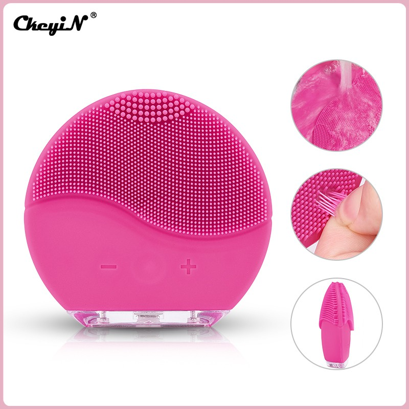 Ckeyin Waterproof Electric Silicone Sonic Vibration Facial Brush