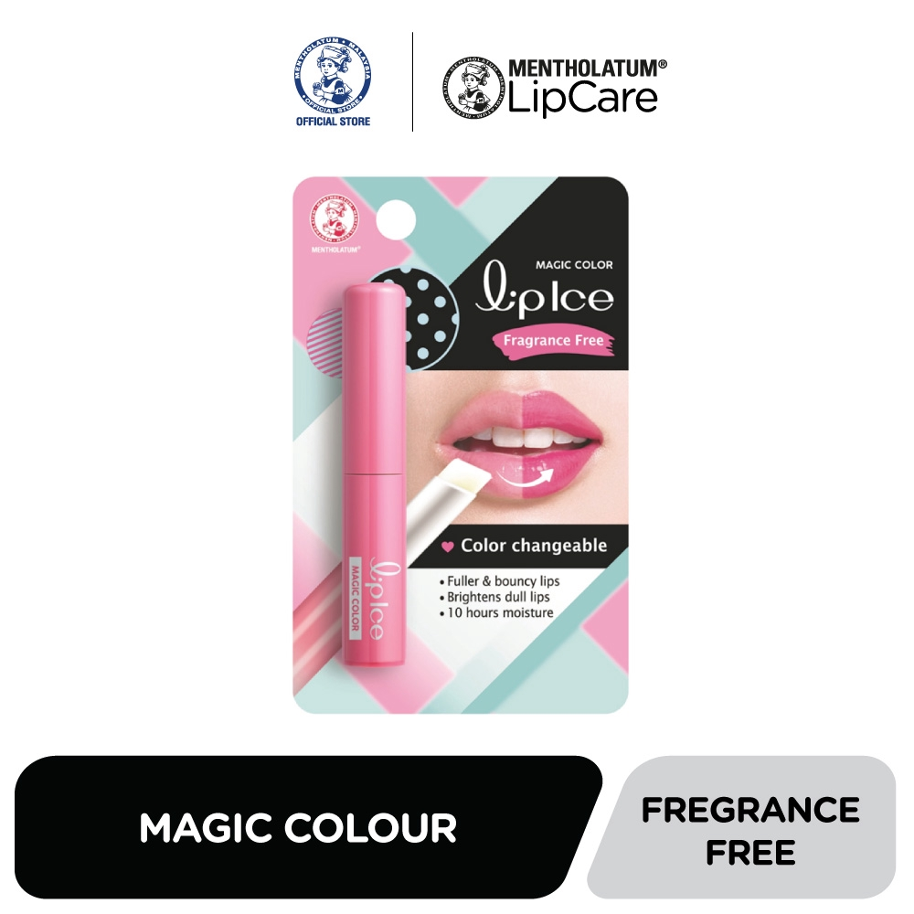 LipIce Magic Color Strawberry/ Fragrance Free/ Pink Mixberry