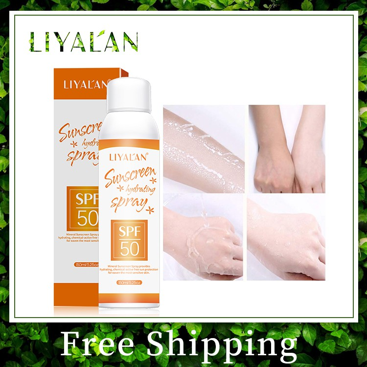 LIYAL'AN SPF 50+ Lightweight Oil Free Sunscreen Hydrating Spray For Face And Body 150ml