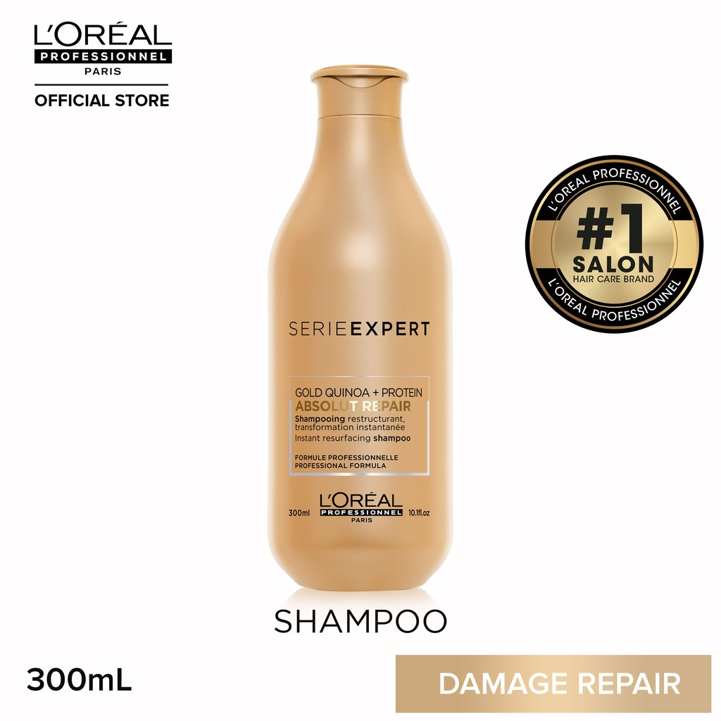 L'Oreal Serie Expert Absolut Repair Shampoo for Dry and Damaged Hair 300mL