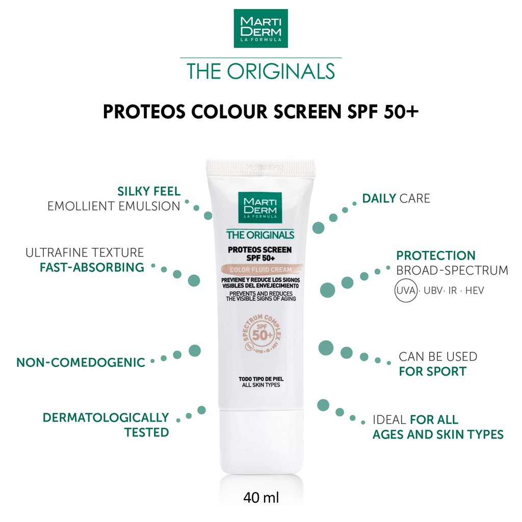 NEW Proteos Screen SPF 50+ Colour Fluid Cream - 40 ml FREE Gifts while stock last