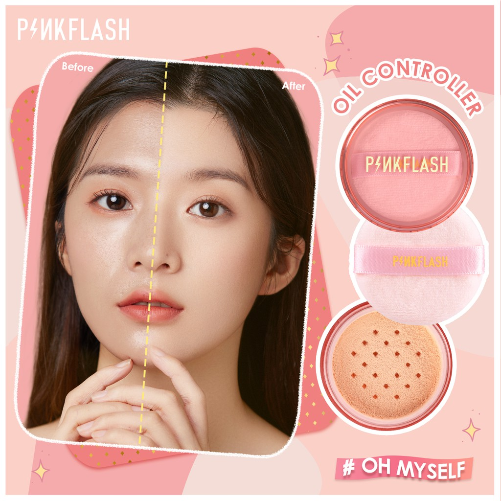 PINKFLASH OhMySelf Oil Controller Matte lightweight Translucent Loose  Setting Powder Lasting all day