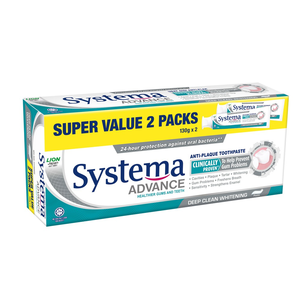 SYSTEMA Advance Toothpaste - Deep Clean Whitening Super Value 2x130g